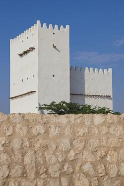 Qatar, Umm Salal Mohammed, 19th Century Barzan Tower and Fort by Walter Bibikow