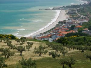 Resort Town and View of Adriatic Sea, Fossacesia Marina, Abruzzo, Italy by Walter Bibikow
