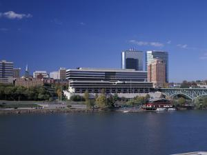 Riverfront View of Downtown, Knoxville, Tennessee by Walter Bibikow
