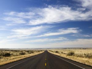 Road Near Marfa, West Texas, USA by Walter Bibikow