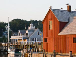 Rockport Harbor and Fishing Shack, Rock Port, Cape Ann, Massachusetts, USA by Walter Bibikow
