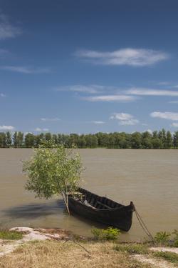 Romania, Danube River Delta, Mahmudia, Danube River Delta and Boats by Walter Bibikow
