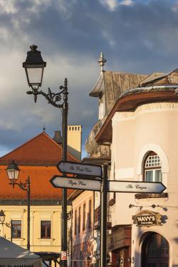 Romania, Maramures Region, Baia Mare, Piata Libertatii Square by Walter Bibikow