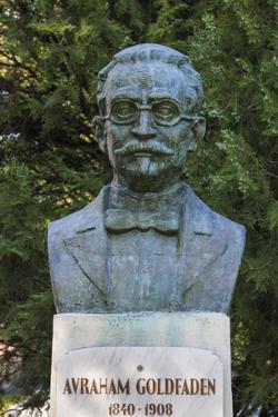 Romania, Moldavia, Iasi, Bust of Avraham Goldfaden by Walter Bibikow