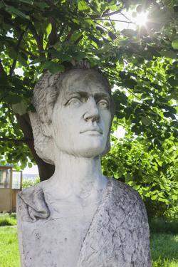 Romania, Moldavia, Iasi, Bust of Mihai Eminescu, Romantic Poet by Walter Bibikow