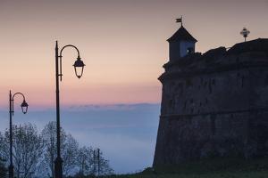 Romania, Transylvania, Brasov, Brasov Citadel, Dawn by Walter Bibikow