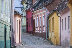 Romania, Transylvania, Sighisoara, Old Town Building Details by Walter Bibikow