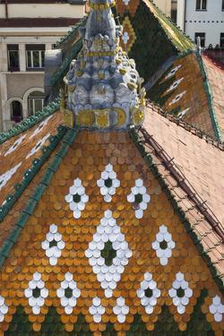 Romania, Transylvania, Targu Mures, the County Council Building Roof by Walter Bibikow