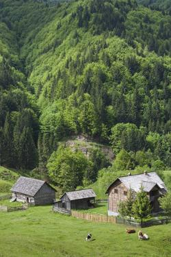 Romania, Transylvania, Tihuta Pass, Mountain Buildings of the Pass by Walter Bibikow