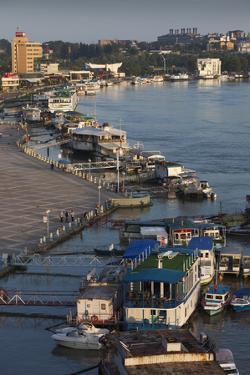 Romania, Tulcea, the Tulcea Port on the Danube River, Dawn by Walter Bibikow