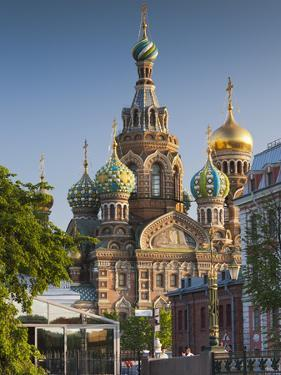 Russia, St. Petersburg, Center, Church of the Saviour of Spilled Blood on Griboedov Canal by Walter Bibikow