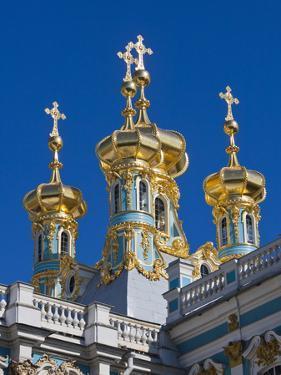 Russia, St. Petersburg, Pushkin-Tsarskoye Selo, Catherine Palace Chapel Detail by Walter Bibikow