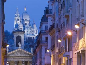 Sacre Coeur and Notre Dame de Lorette, Paris, France by Walter Bibikow