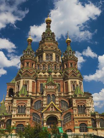 Saints Peter and Paul Cathedral, Peterhof, Saint Petersburg, Russia by Walter Bibikow