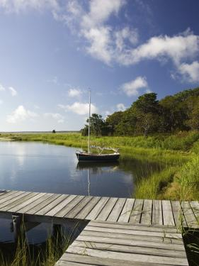 Sengekontacket Pond, Oak Bluffs, Martha's Vineyard, Massachusetts, USA by Walter Bibikow