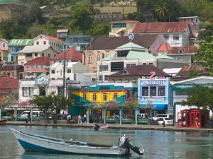 Shops, Restaurants and Wharf Road, The Carenage, Grenada, Caribbean by Walter Bibikow