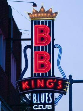 Signs for BB King's Club, Beale Street Entertainment Area, Memphis, Tennessee, USA by Walter Bibikow