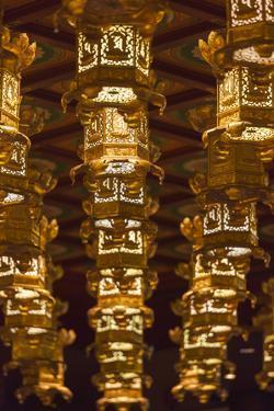 Singapore, Chinatown, Buddha Tooth Relic Temple, Lanterns by Walter Bibikow