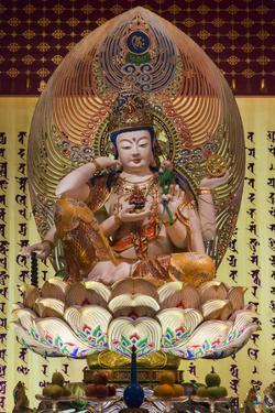 Singapore, Chinatown, Buddha Tooth Relic Temple, Temple Statues by Walter Bibikow