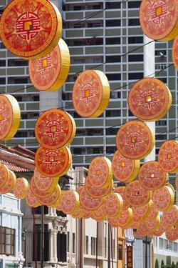 Singapore, Chinatown, Decorations for Chinese New Year by Walter Bibikow