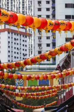 Singapore, Chinatown, Lantern Decorations by Walter Bibikow