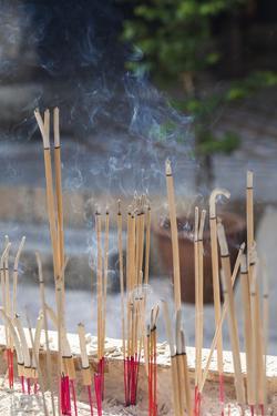 Singapore, Chinatown, Thian Hock Keng Temple, Joss Sticks by Walter Bibikow