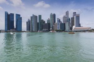 Singapore, City Skyline by the Marina Reservoir by Walter Bibikow
