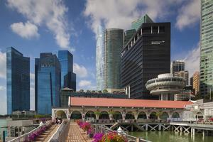 Singapore, City Skyline by the Marina Reservoir by Walter Bibikow