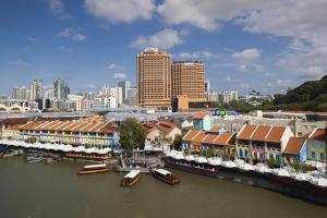 Singapore, Clarke Quay, Entertainment District, Exterior by Walter Bibikow