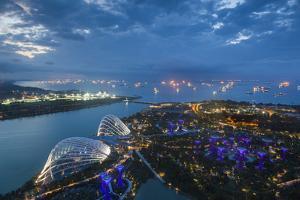 Singapore, Dawn by Walter Bibikow
