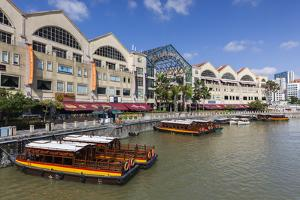Singapore, Riverside Point, Entertainment District, Exterior by Walter Bibikow