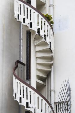 Singapore, Traditional Shophouse Architecture, Spiral Stairs by Walter Bibikow
