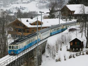 Ski Train, Gstaad, Bern, Switzerland by Walter Bibikow