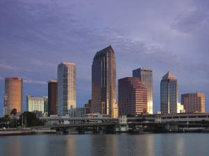 Skyline From Hillsborough Bay, Tampa, Florida, USA by Walter Bibikow
