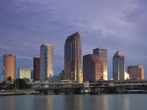 Skyline From Hillsborough Bay, Tampa, Florida, USA by Walter Bibikow