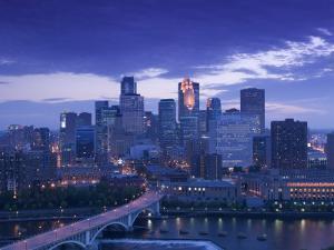 Skyline of Minneapolis, Minnesota, USA by Walter Bibikow