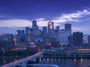Skyline of Minneapolis, Minnesota, USA by Walter Bibikow