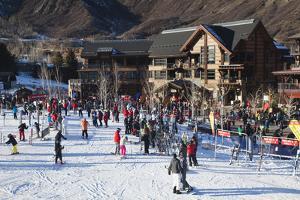 Snowmass Village, Snowmass Village Ski Area, Colorado, USA by Walter Bibikow