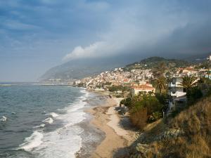 South Lesvos Resort Town, Plomari, Lesvos, Mithymna, Aegean Islands, Greece by Walter Bibikow