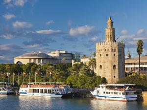 Spain, Andalucia Region, Seville Province, Seville, Torre Del Oro Tower by Walter Bibikow