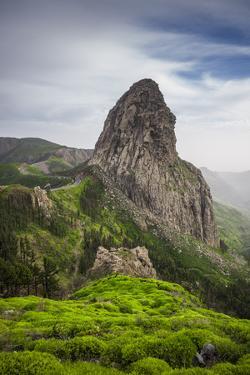 Spain, Canary Islands, La Gomera, Parque Nacional De Garajonay, Roque De Agando by Walter Bibikow