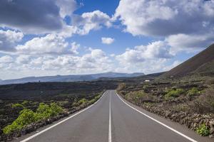 Spain, Canary Islands, Lanzarote, El Capitan, Lz-201 Road by Walter Bibikow