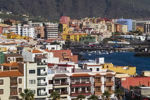 Spain, Canary Islands, Tenerife, Candelaria, Elevated Town View by Walter Bibikow