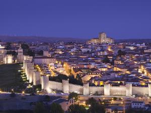 Spain, Castilla Y Leon Region, Avila Province, Avila, Las Murallas, Town Walls, Elevated View by Walter Bibikow