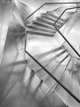 Spain, Madrid, Paseo Del Prado Area, Caixa Forum, Herzog and De Meuron Architects, Entrance Stairs by Walter Bibikow