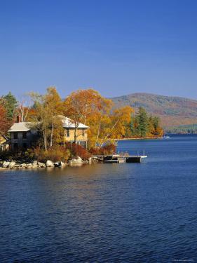 Squam Lake, Lakes Region, New Hampshire, USA by Walter Bibikow