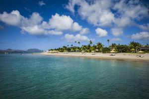 St. Kitts and Nevis, Nevis. Pinney's Beach by Walter Bibikow