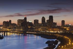 St Paul Skyline from Indian Mounds, Minneapolis, Minnesota, USA by Walter Bibikow