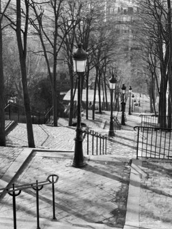 Steps to Montmartre, Paris, France by Walter Bibikow