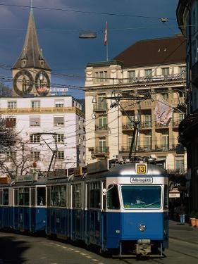 Streetcar, Zurich, Switzerland by Walter Bibikow